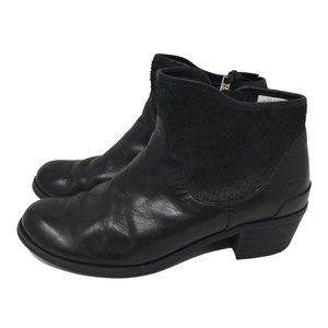 UGG PENELOPE 7 Black Ankle Booties Slip On Women's